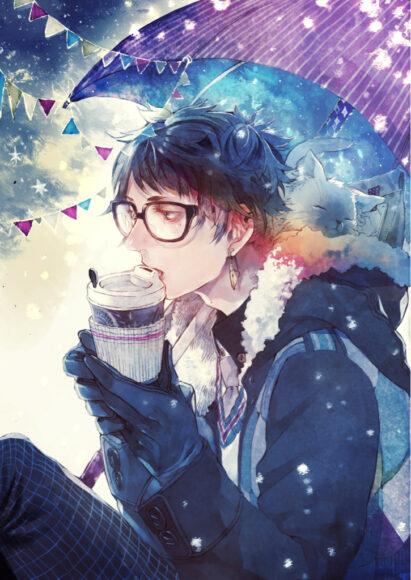 Hình ảnh anime boy mùa đông ấm áp