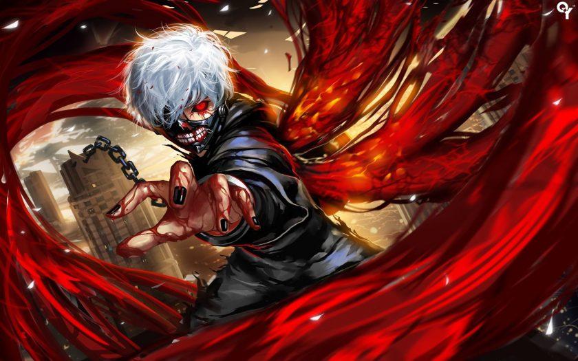 Hình ảnh anime boy tóc bạch kim chiến đấu