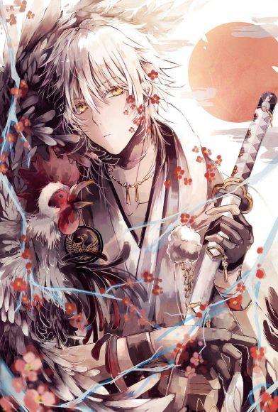 Hình ảnh anime boy tóc bạch kim cool ngầu chất