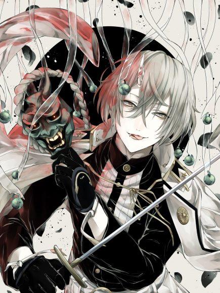 Hình ảnh anime boy tóc bạch kim lạnh lùng cá tính
