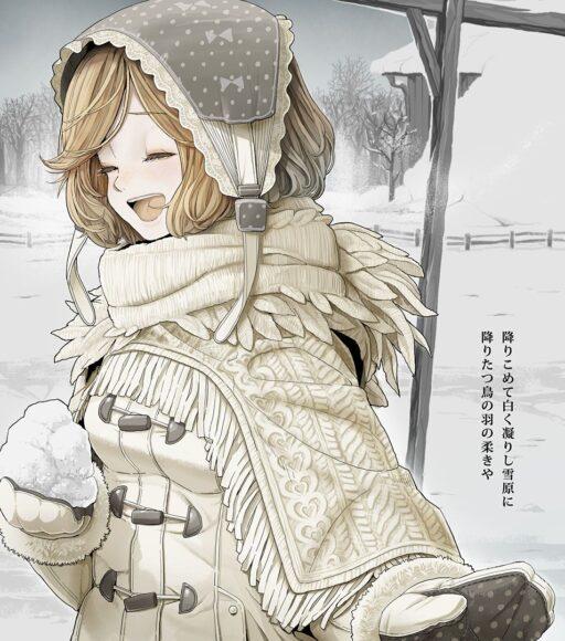 Hình ảnh anime cô bé mùa đông