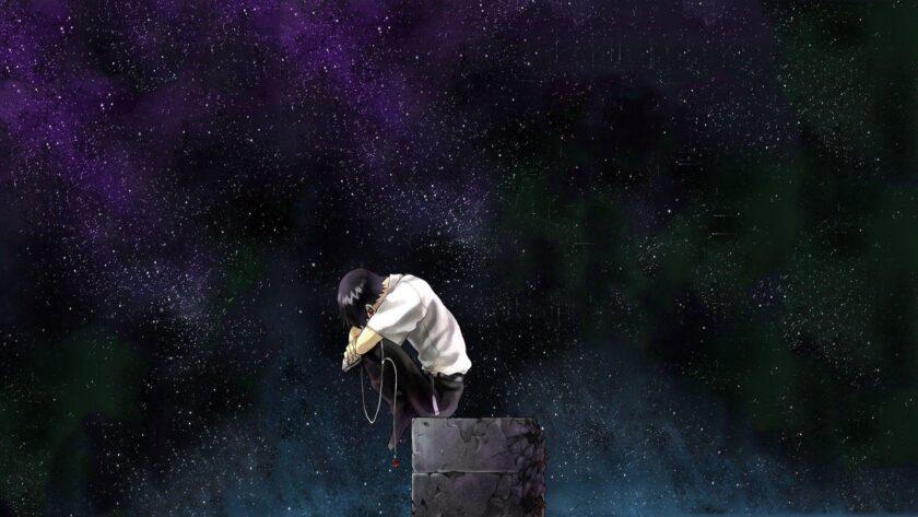 Hình ảnh anime cô đơn galaxy