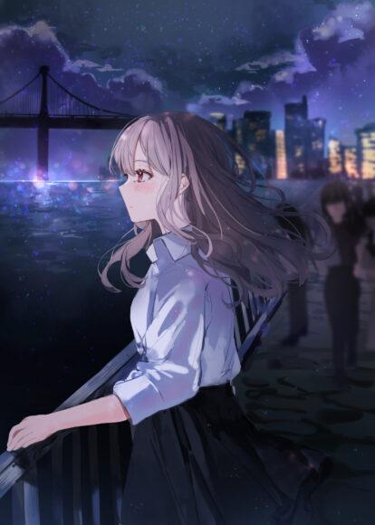 Hình ảnh anime cô đơn nhìn xa xăm