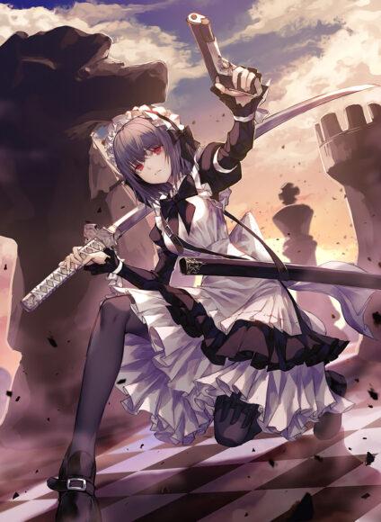 Hình ảnh anime girl lạnh lùng vô cảm