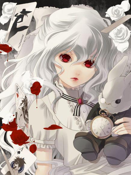 Hình ảnh anime girl tóc bạch kim quyến rũ lạnh lùng
