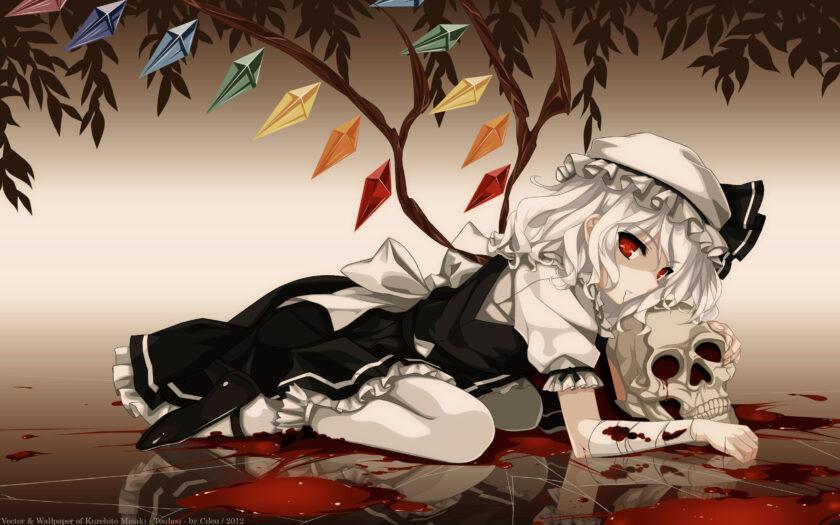 Hình ảnh anime girl tóc trắng cá tính chất ngầu