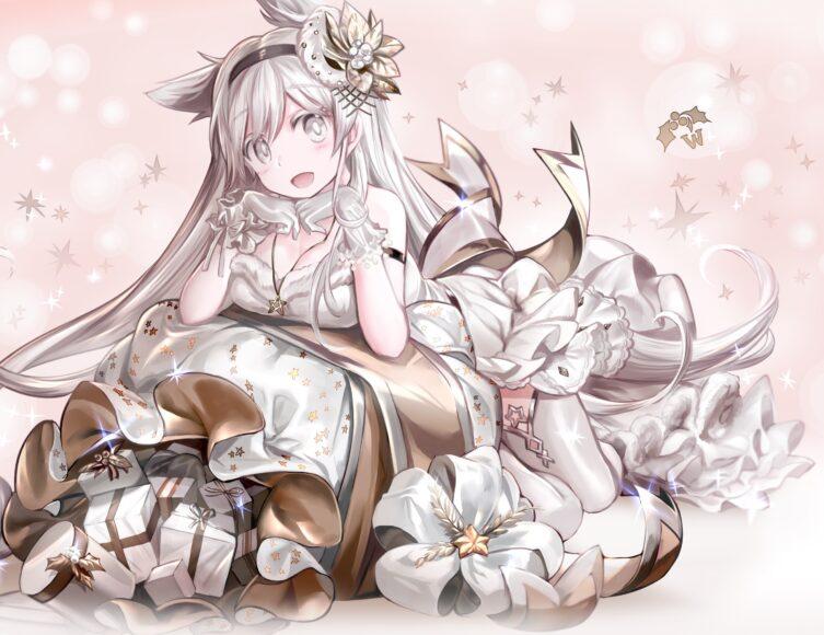 Hình ảnh anime girl tóc trắng đẹp quyến rũ