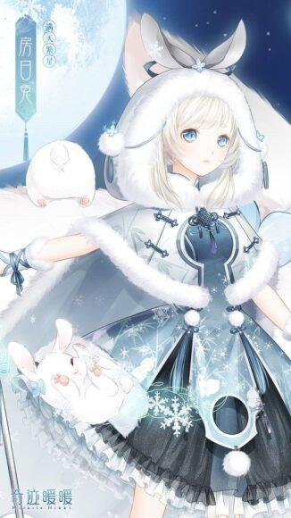 HÌnh ảnh anime girl tóc trắng ngắn đẹp