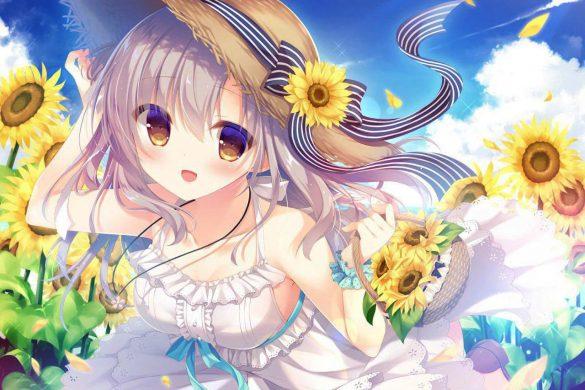 Hình ảnh anime hoa hướng dương