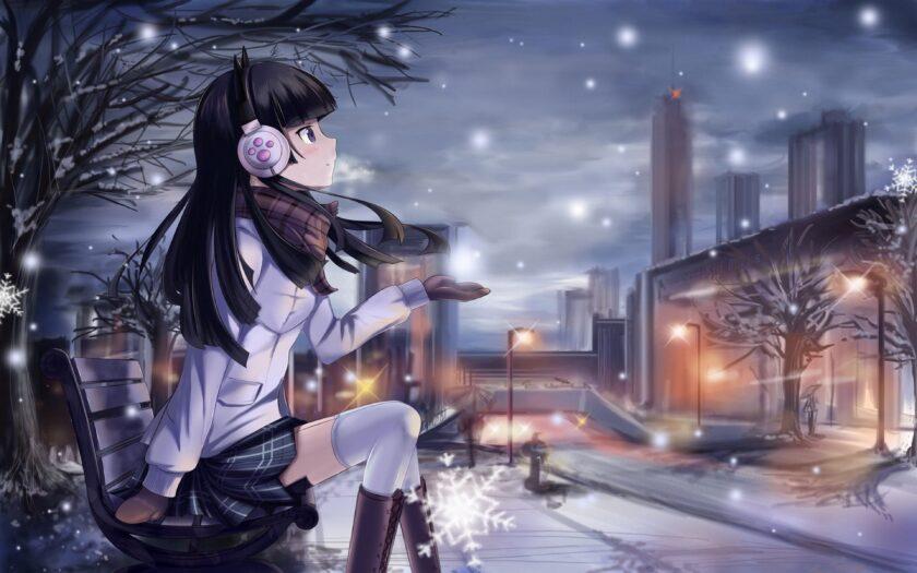 Hình ảnh anime mùa đông cô đơn