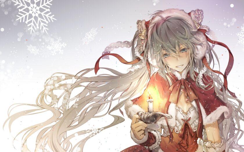 Hình ảnh anime mùa đông cô gái đẹp
