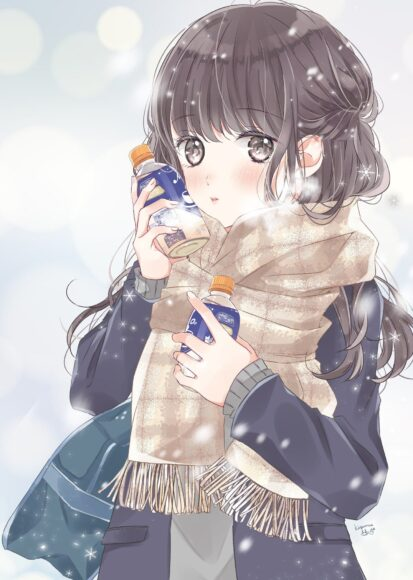 Hình ảnh anime mùa đông girl xinh xắn
