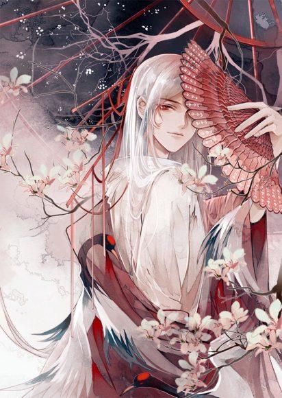 Hình ảnh anime tóc bạch kim đẹp mê mẩn