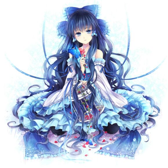 Hình ảnh anime tóc xanh đẹp mê mẩn
