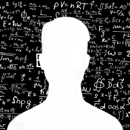 hình ảnh avatar trắng giấu mặt cho nam yêu toán học