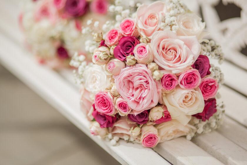 Hình ảnh bó hoa hồng cưới