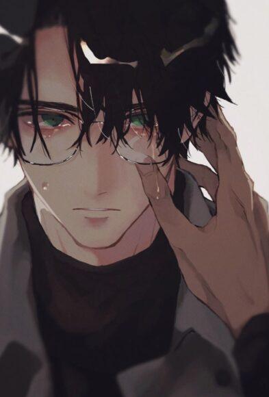 hình ảnh buồn khóc anime cho con trai