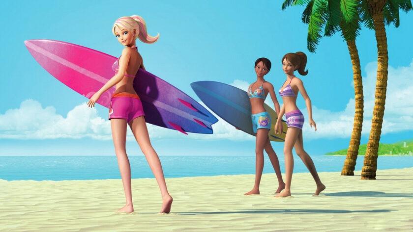 hình ảnh búp bê dễ thương đi tắm biển