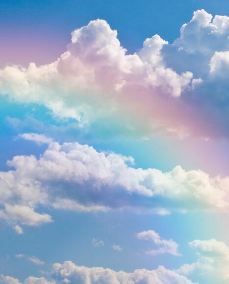 Hình ảnh cầu vồng đám mây và bầu trời