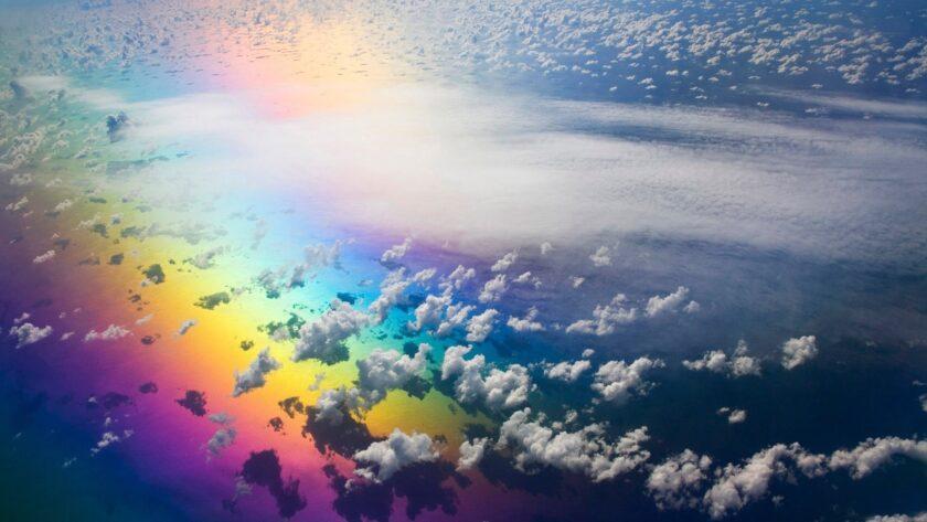 Hình ảnh cầu vồng và mây