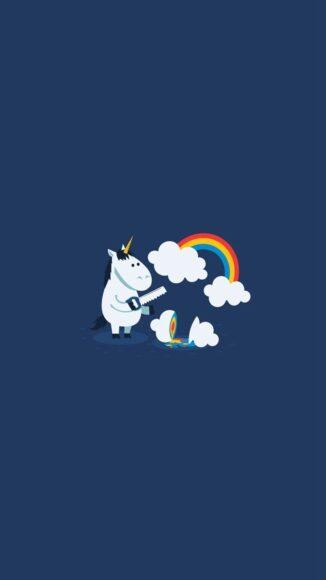 Hình ảnh cầu vồng và ngựa pony đáng yêu