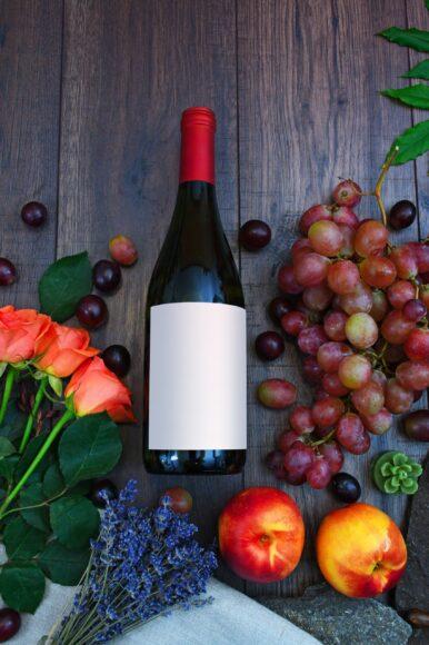 hình ảnh chai rượu táo