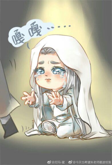 hình ảnh chibi buồn khóc