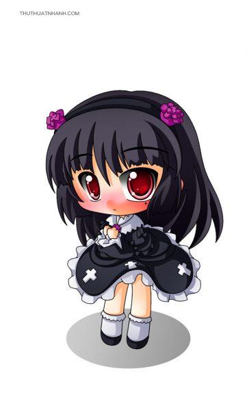 hình ảnh chibi girl buồn cute