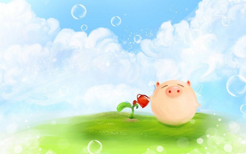 Hình ảnh con lợn cho màn hình máy tính