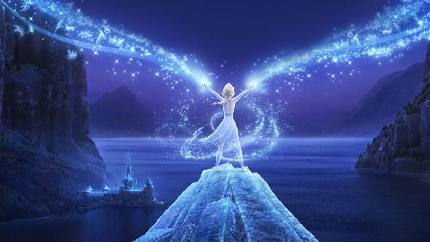 hình ảnh công chúa - Elsa thể hiện sức mạnh to lớn của mình
