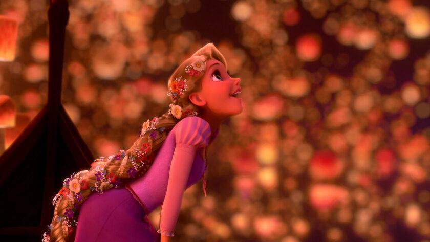 hình ảnh công chúa - Rapunzel ngắm thiên đăng