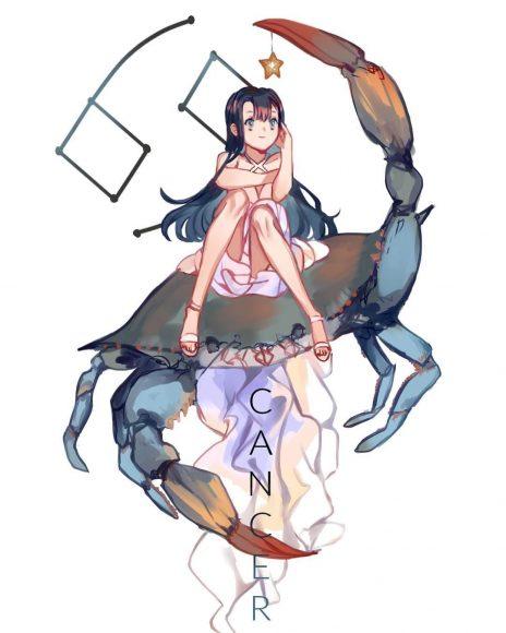 hình ảnh cung cự giải anime