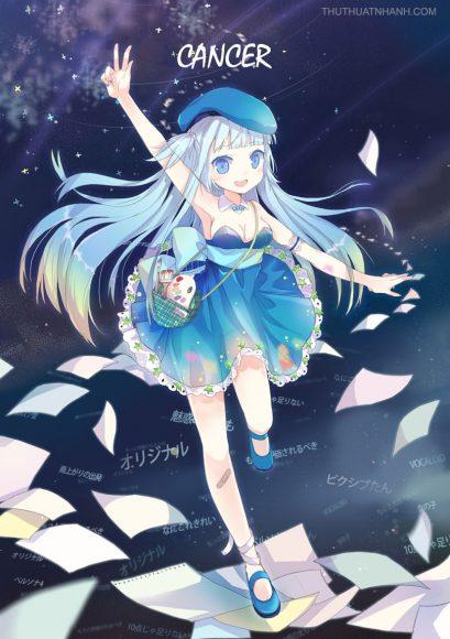 hình ảnh cung cự giải anime girl