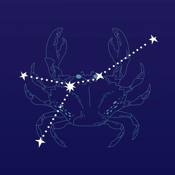 Hình ảnh cung Cự Giải biểu tượng và chòm sao