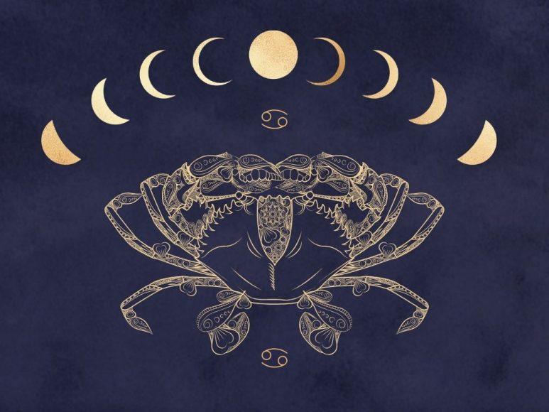 Hình ảnh cung Cự Giải và mặt trăng