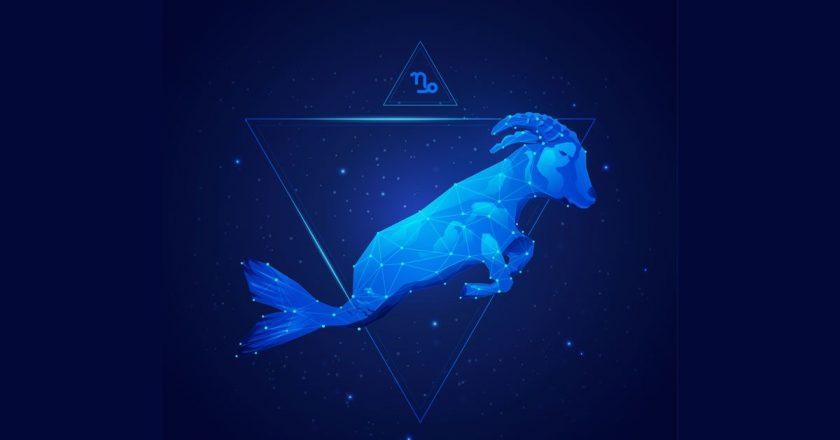 Hình ảnh cung Ma Kết biểu tượng xanh dương