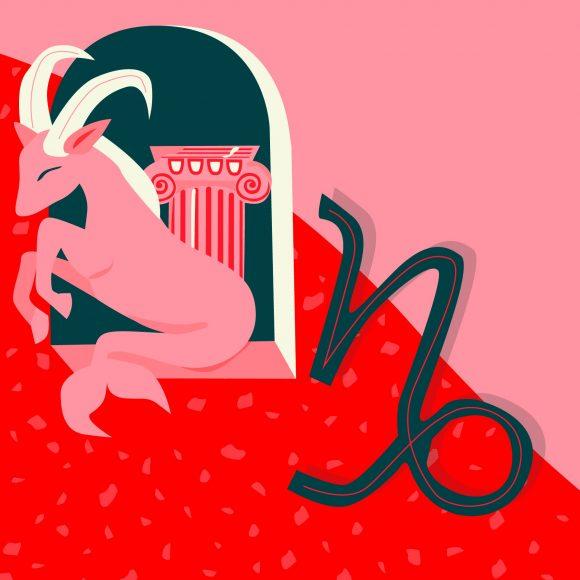Hình ảnh cung Ma Kết màu đỏ