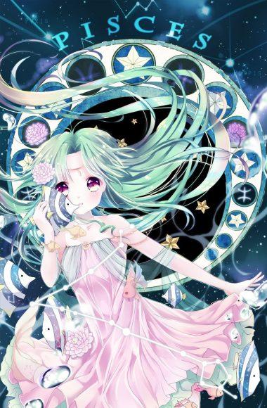 Hình ảnh cung Song Ngư anime đáng yêu