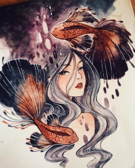 Hình ảnh cung Song Ngư nữ độc đáo