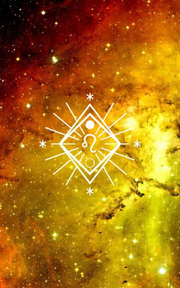 hình ảnh cung sư tử - biểu tượng cung sư tử nổi bật giữa nền vàng kim