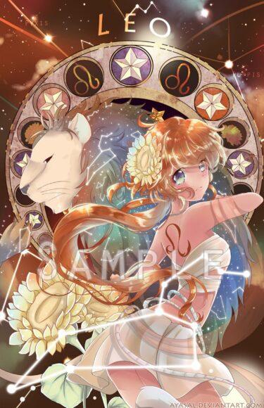 hình ảnh cung sư tử - cô gái anime cung sư tử xinh đẹp