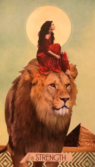 hình ảnh cung sư tử - sư tử cùng cô gái giữa sa mạc