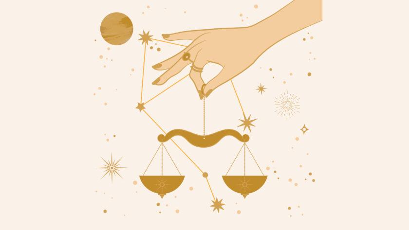 hình ảnh cung Thiên Bình - cán cân cân bằng trên đôi tay