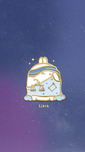 hình ảnh cung Thiên Bình - chú gấu dễ thương cùng cán cân