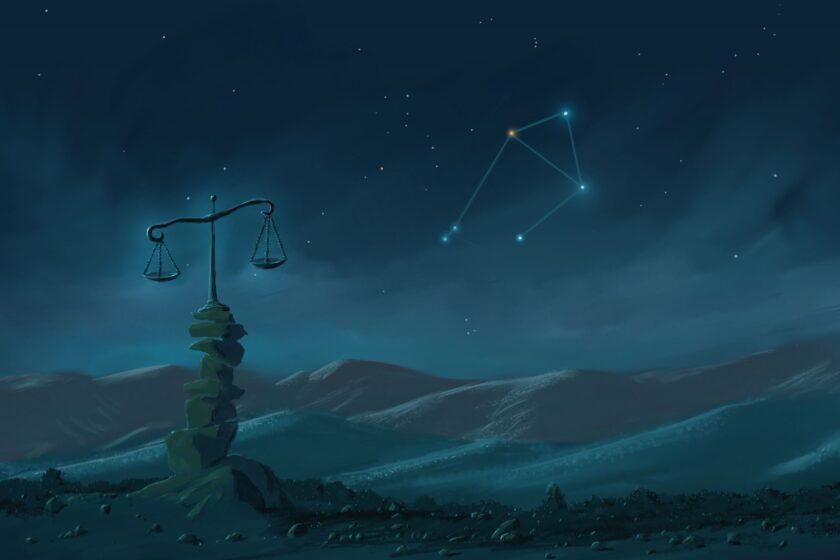 hình ảnh cung Thiên Bình - hình dáng ngôi sao cùng biểu tượng