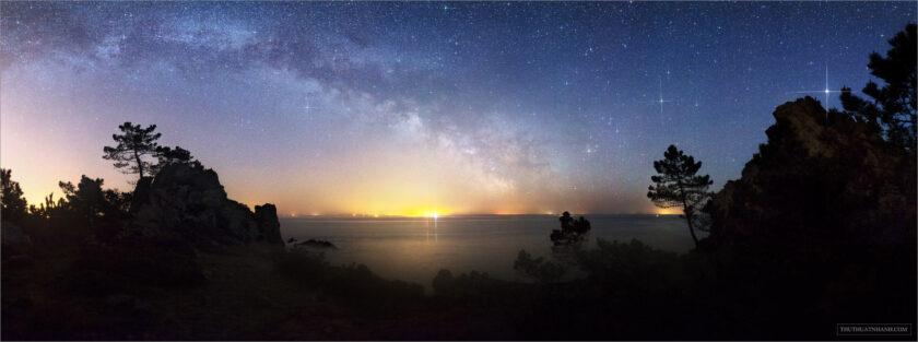 hình ảnh cung thiên bình trên bầu trời sao của dải ngân hà