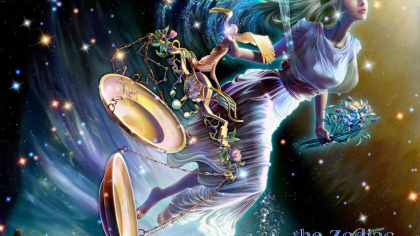 hình ảnh cung Thiên Bình - vị nữ thần hộ mệnh cùng cán cân quyền lực