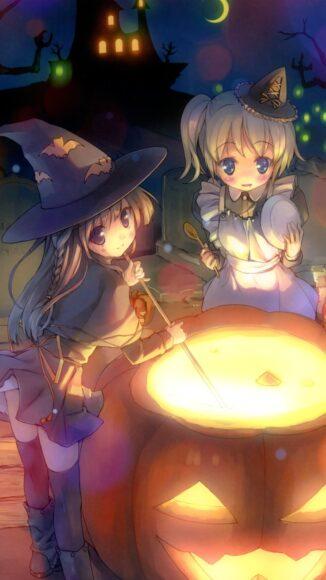 hình ảnh halloween anime dễ thương