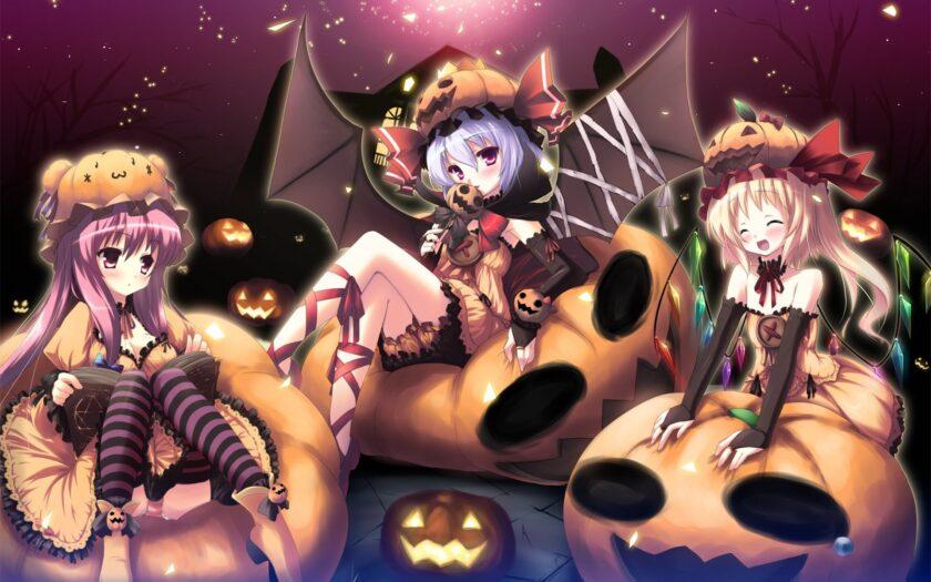 hình ảnh halloween dễ thương anime
