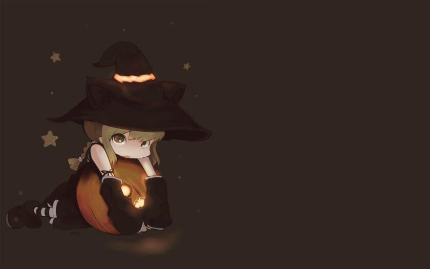 hình ảnh halloween dễ thương chibi